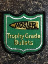 """(4535) Nosler Trophy Grade Bullets Cloth Patch Sew On Iron On! Hunting 3 x 2.75"""""""