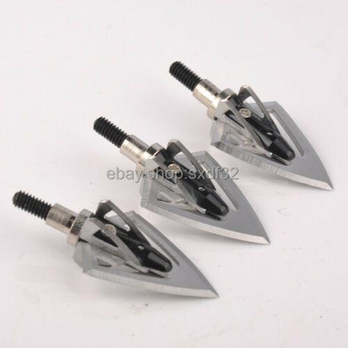 6pcs 100 Grain Aluminum Arrowhead Tips F Fiberglass Arrow Carbon Arrows Archery