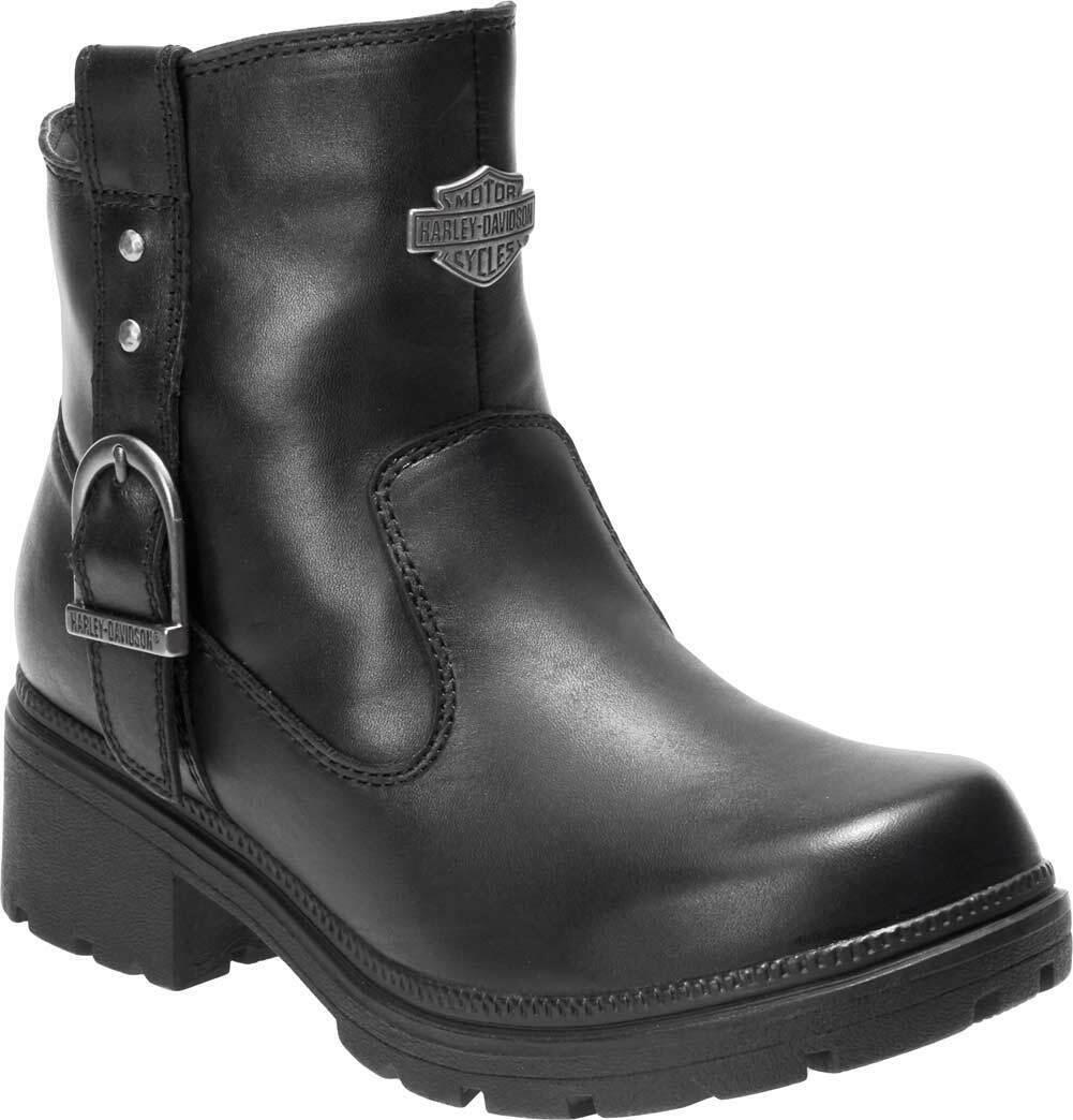 Harley-davidson Para Mujer de Madera de 5 Pulgadas Negro botas al Tobillo Informales D84406