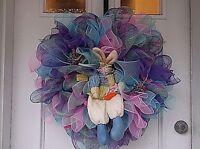 Easter Deco Mesh Door Wreath Easter Bunny Xl Free Shipping
