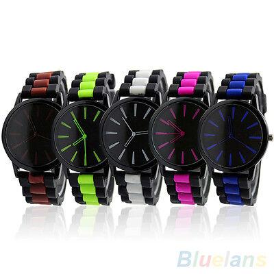 Women's Men's Hot Sale Silicone Band Jelly Gel Quartz Analog Sports Wrist Watch