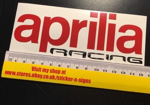 1x Red /& Black Carbon Fibre Aprilia Racing Stickers 150mm X 58mm Most Colours