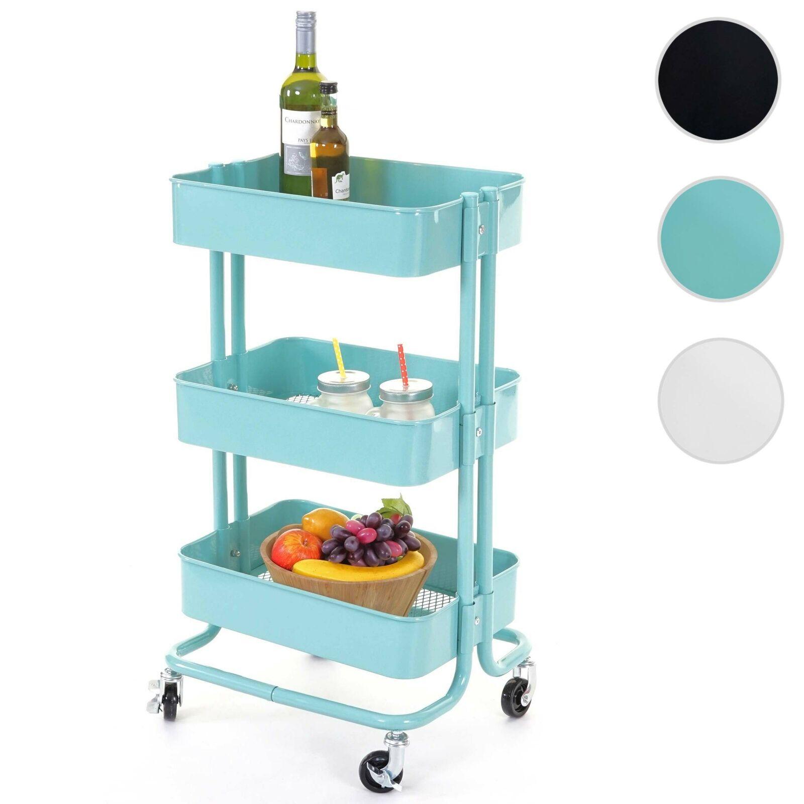 Trolley HWC-C64, Kitchen Trolley Bar Tea Cart Trolley, 79x44x37cm