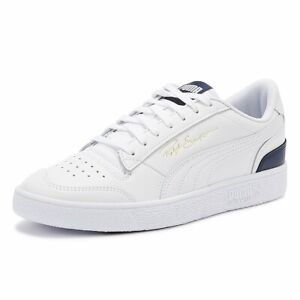 puma ralph sampson mens white lo trainers lace up sport