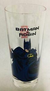 BATMAN-Batman-amp-Robin-DC-COMICS-1997-Quick-Original-Vintage-glass-glas-verre