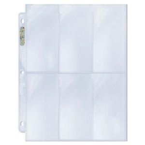 10-x-Ultra-PRO-6-Pocket-Tall-Binder-Album-Folder-Pages-Platinum-2-1-2-034-x-5-1-4-034