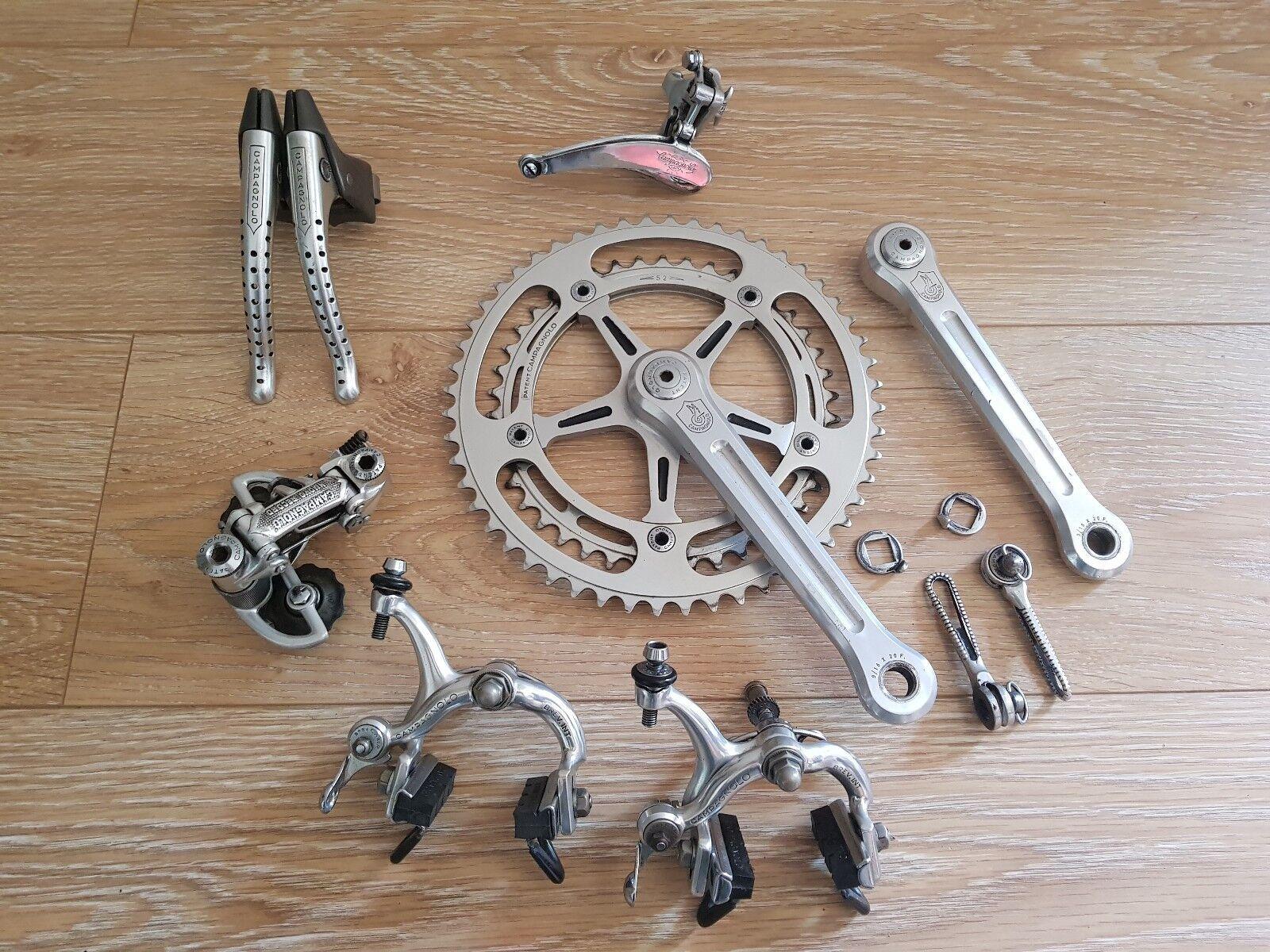 CAMPAGNOLO RECORD GROUPSET vintage 1977 groupe vélo pédalier dérailleur