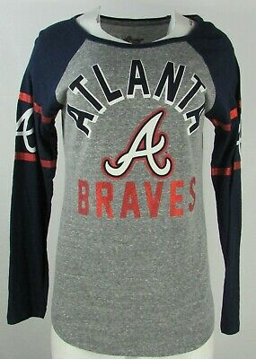 size 40 4735e bd366 Atlanta Braves MLB G-III Women's Long Sleeve Navy Blue Graphic T-Shirt |  eBay