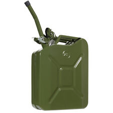 5 Gallon 20l Army Backup Jerry Can Gasoline Fuel Can Metal Tank Emergency Backup