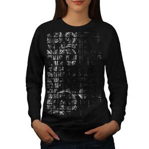 Wellcoda-Leaf-Plant-Art-Womens-Sweatshirt-Chamber-Casual-Pullover-Jumper