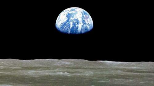 NASA APOLLO 11 MOON MISSION EARTH 8x10 PHOTO 1969