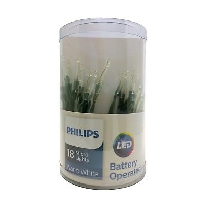 Philips 18ct Christmas Battery Operated Led Micro String