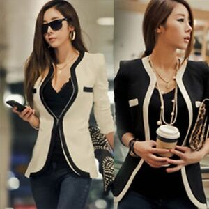 New-Women-Long-Sleeve-Coat-Slim-Business-Suits-Jacket-Blazer-Casual-Outwear-Tops