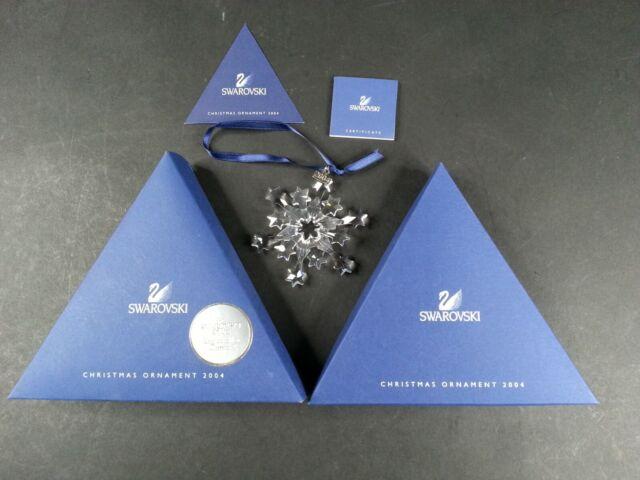2004 SWAROVSKI Christmas CRYSTAL Ornament w/ Original box ...