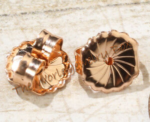 Image Is Loading 9 4mm Solid 14k Rose Gold Safety Friction