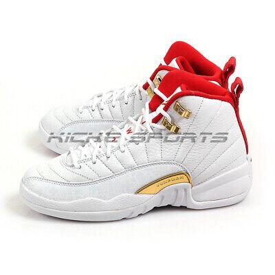Nike Air Jordan 12 XII Retro (GS) FIBA WhiteUniversity Red 153265 107 | eBay