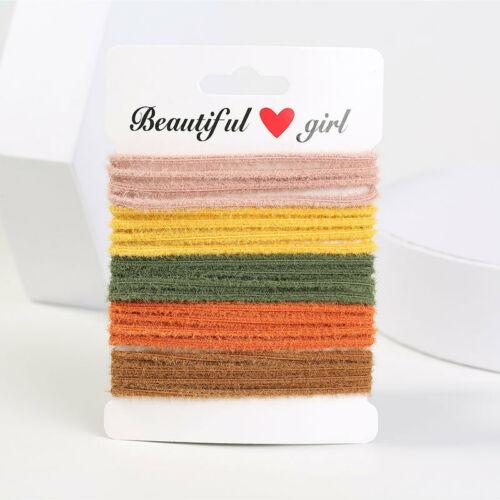 10pcs//set Elastic Rope Women Hair Ties Ponytail Holder Head Band Hairbands