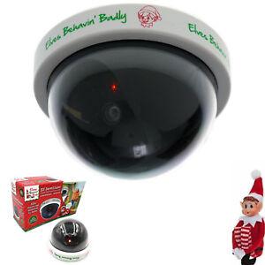 New Elf CCTV LED Dome Camera Security Dummy Surveillance Outdoor Xmas Elves Cam