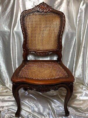 1 Vintage Original Handmade Walnut Wood Cane Colonial Style London Office Chair Ebay