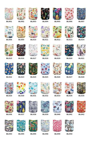 LilBit 10 PCSBaby Reusbale Washable Pocket Cloth Diapers
