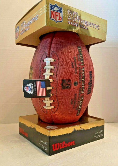 Super Bowl 41 XLI Bears vs Colts Official Leather NFL Authentic Game Football