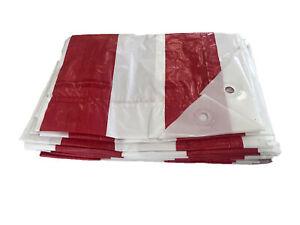 Yuzet-Red-White-Striped-Market-Stall-Tarpaulin-2m-X-6m-Waterproof-Cover