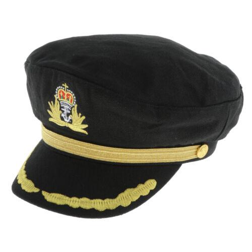 Visor Adult Kid Yacht Captain Hat Navy Sailing Skipper Cosplay Costumes Accs