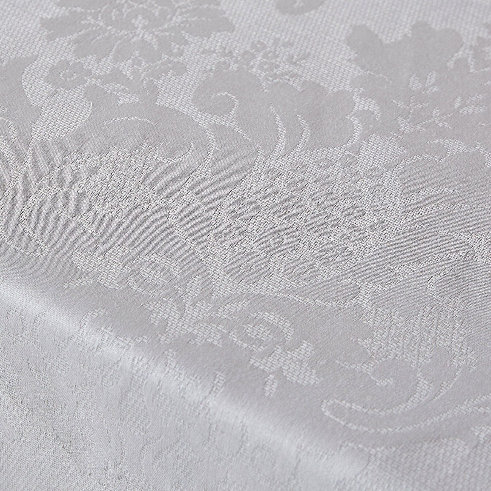 Jacquard Print White 4 Pc Sheet Set All Sizes 1200 Thread Count 100% Pure Cotton