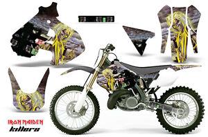 Dirt Bike Graphics Kit Decal Sticker Wrap For Suzuki RM250 1999-2000 REAPER RED