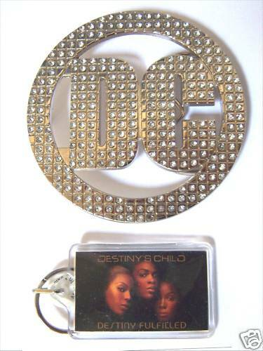 DESTINY'S CHILD BEYONCE! DC BLING BELT BUCKLE SET NEW!