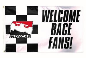 INDYCAR-Series-Welcome-Race-Fans-Collector-3-039-x-5-039-Banner-Flag-Indy-500-IRL