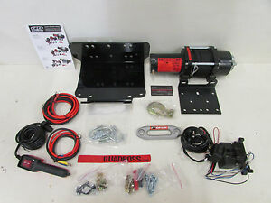 kawasaki brute force 300 quadboss 2500lb winch & mount dyneema