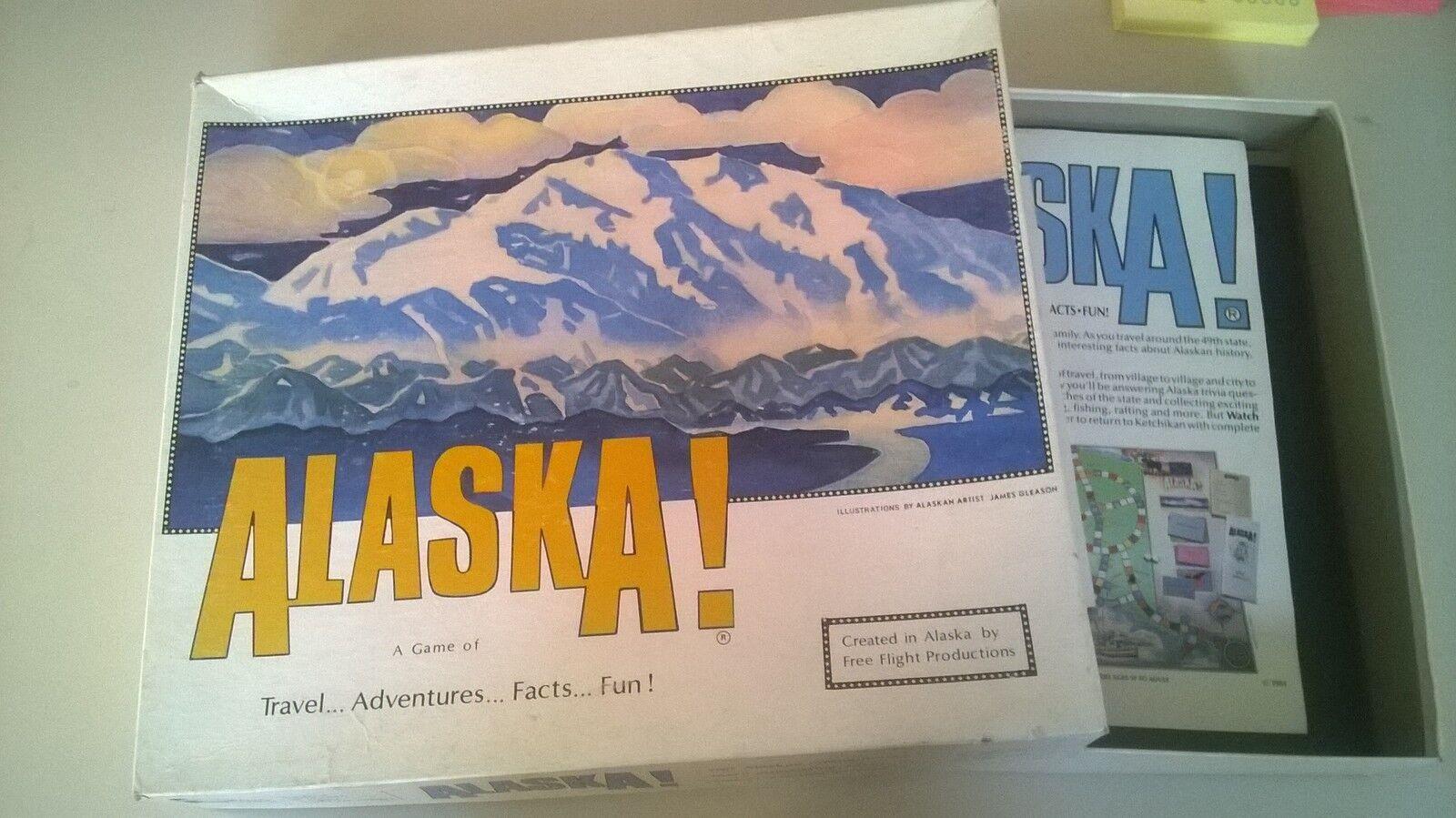 SPIEL Alaska Alaska Alaska   - Travel Adventure Facts Fun (10+  2-4 Sp.) FREE FLIGHT PROD '84 6fc2d6