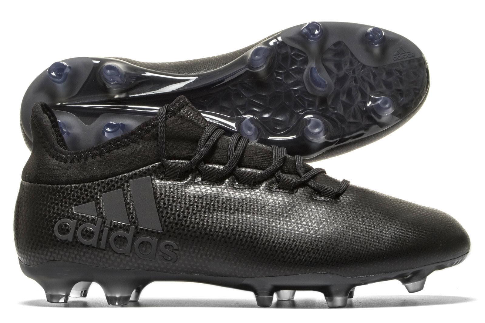 Adidas Para Hombre X 17.2 Terreno Firme Fútbol botas Tachuelas Zapatillas Zapatos Deportivos Negro