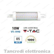 Lampadina led V-TAC 10W = 60W R7S bianco freddo 6400K VT-1990 SMD tubolare faro