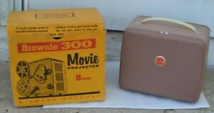 Vintage-Kodak-Brownie-300-Movie-Projector-8mm-w-Original-Box