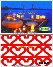2x IKEA ROMANTIC CANDLELIGHT SUPPER LOVE IN THE AIR COLLECTIBLE GIFT CARD LOT