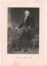 Richard Henry Lee 1861 Steel Engraving Print President Pro Tempore Senate
