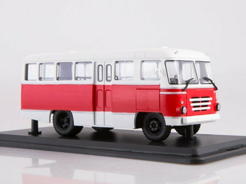 Scale model bus 1 43, KAG-3 (Weiß-rot)