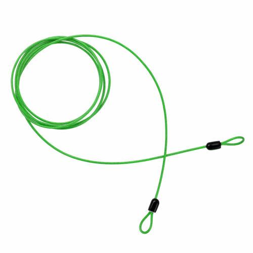 2Pcs 2m Steel Double Loop Cables Rope Bike Braided Steel Chains Door Lock Safe