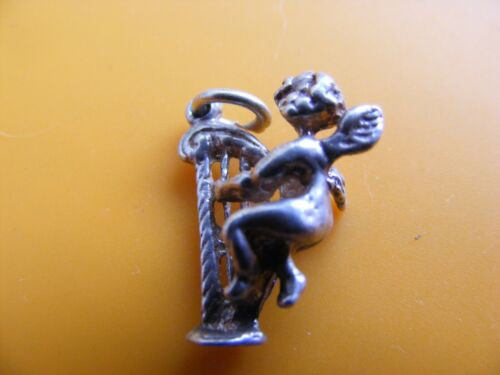 A4 VINTAGE STERLING SILVER CHARM CHARMS JUG CHURCH OWL APPLE AXE LION TEDDY DEER
