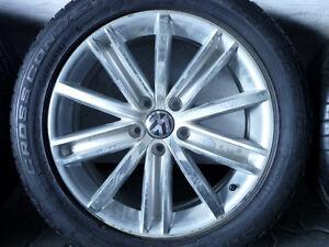 ALUFELGEN-ORIGINAL-VW-TIGUAN-Typ-5N-NEW-YORK-mit-SOMMERREIFEN-235-50-R18-7mm