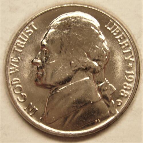 1988 D BU Jefferson Nickel Pulled From OBWRoll