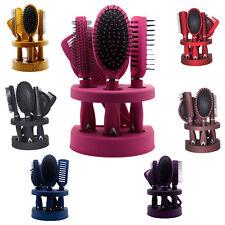 New 5Pcs Ladies Unisex Mirror Hair Brush Comb Set Women Travel Gift Blister Pack