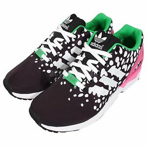 adidas Originals ZX Flux W Black White Pink Womens Sneakers Running Shoes M19455