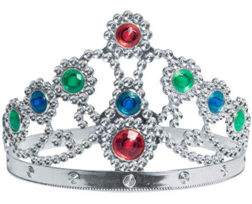 Silver Metallic Plated Jewelled Queen/'s Tiara Adjustable Queen Princess Crown