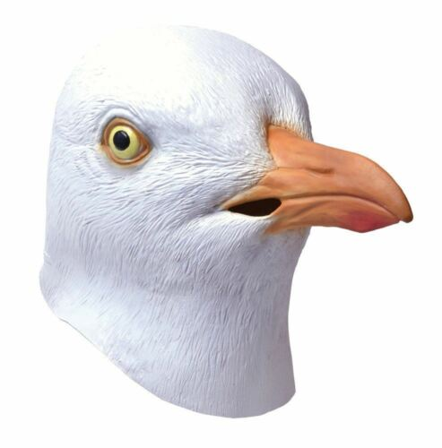 Adult Full Overhead Rubber Seagull Mask Beach Bird Fancy Dress Costume Halloween