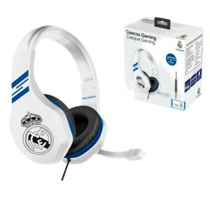 AURICULARES GAMING REAL MADRID CASCOS CON MICROFONO PS4 PC XBOX LICENCIA OFICIAL