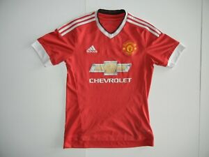 Details about Adidas MANCHESTER UNITED Chevrolet Red EPL SOCCER JERSEY Rooney Shirt Sz Men SM