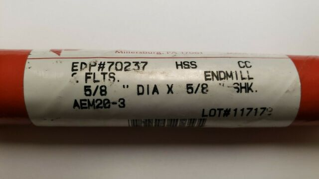 """QUINCO 63//64/"""" x 1/"""" x 1-5//8/"""" 2FL SE HSS End Mill 45132 USA #12B-A0381"""